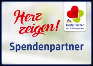 "dm HelferHerzen 2018 – Logo ""Herz zeigen!""-Spendenpartner"